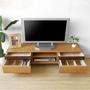 Meuble Tv Bois Massif Moderne : de style japonais bois massif meuble tv combinaison salon table basse minimaliste moderne ch ne ~ Teatrodelosmanantiales.com Idées de Décoration