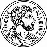 Coloring Ancient Rome Roman Coin Coins Money Colorir Roma Sheets Cash Wecoloringpage Arte Romanos Antiga Historic Mosaic Folhas Romano Ingrahamrobotics sketch template