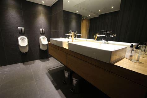 bureau union office restroom interior design by inhouse brand
