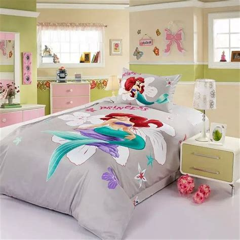 grey mermaid bedding  girls mermaid bed set twin queen