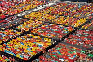 Shipping Container Yard Photograph by Phil Degginger