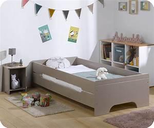 Lit enfant teen lin 90x200 cm mobilier fabrication francaise for Tapis chambre enfant avec matelas bultex 140x200 promo