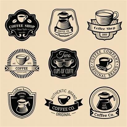 Coffee Cafe Logos Modern Hipster Restaurant Emblems