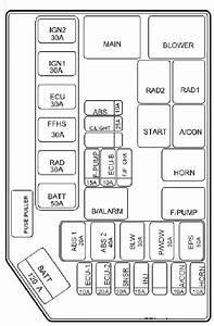 Hyundai Getz  2009 - 2010   U2013 Fuse Box Diagram