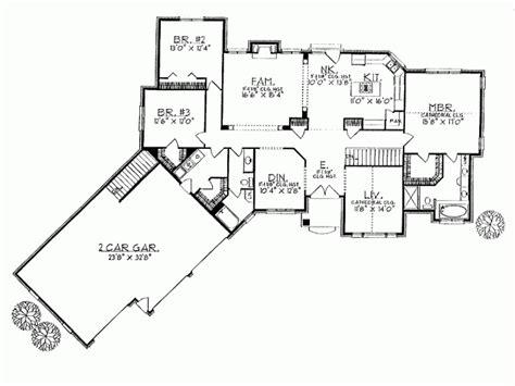 ranch house plans angled garage unique hardscape design