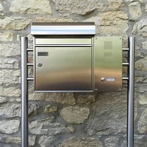 Briefkasten Mit Klingel Freistehend : edelstahl standbriefkasten basic 592 inkl klingel namensschild gegensprechstelle ~ Sanjose-hotels-ca.com Haus und Dekorationen