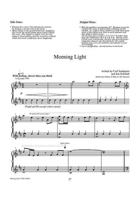 In the morning light piano mp3 online