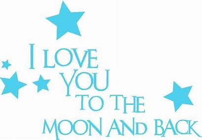 Moon Quotes Quote Vinyl Words Wall Decal
