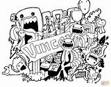 Doodle Coloring Pages Printable Easy Drawing Paper Games Some sketch template