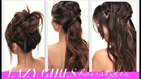 easy lazy girls   school hairstyles cute