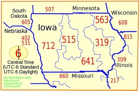 List Of Iowa Area Codes Wikipedia