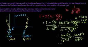 22  Lorentz Transformation - Example Problem