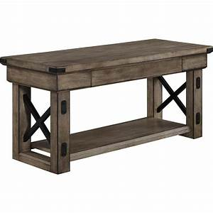Altra, Furniture, Altra, Wildwood, Wood, Veneer, Entryway, Bench, In, Rustic, Gray-5054096pcom