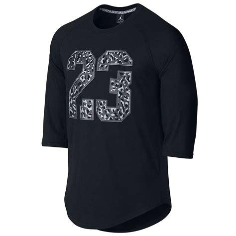 nike s air raglan top 3 4 sleeve black crew neck t shirt 688991 ebay