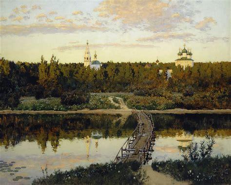 Isaac Levitan - Quiet Abode (The Silent Monastery) (1890 ...