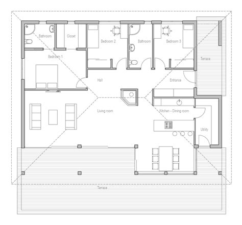 house plans affordable small house floor plans prairie simple affordable small house plan ch229 house plan