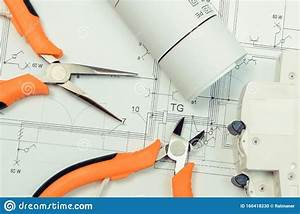 Electrical Diagrams  Electric Fuse And Pliers On