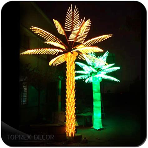 decorative palm trees with lights led lighted coconut palm tree light outdoor decorative
