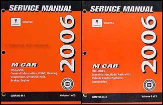 auto repair manual online 2006 pontiac solstice user handbook 2006 pontiac solstice repair shop manual 2 volume set original