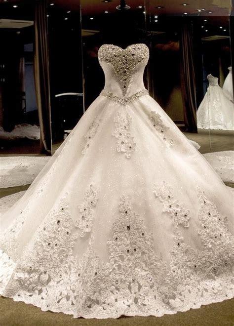 Luxury Ball Gown  Ee  Wedding Ee    Ee  Dresses Ee   Sweetheart Neck Crystals
