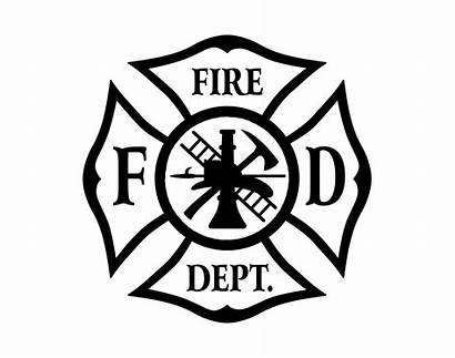Maltese Cross Fire Firefighter Decals Department Decal