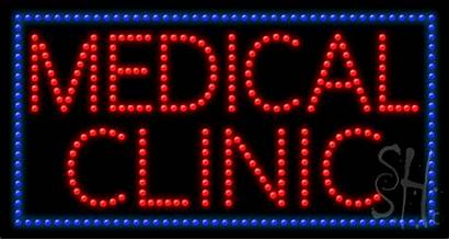 Clinic Medical Sign Led Animated Signs Neon