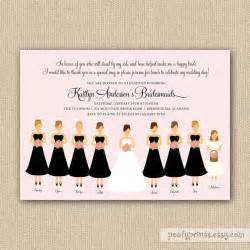 bridesmaid invitations bridesmaids luncheon invitation bridal brunch diy printable invit