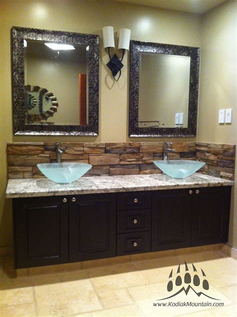 bathroom vanity backsplash ideas bathroom back splash kodiak mountain frontier