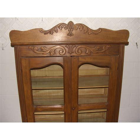 antique oak kitchen cabinet antique oak kitchen cabinet with applied carving ssr 4119