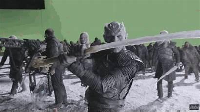 Thrones Walkers King Night Scenes Behind Walker