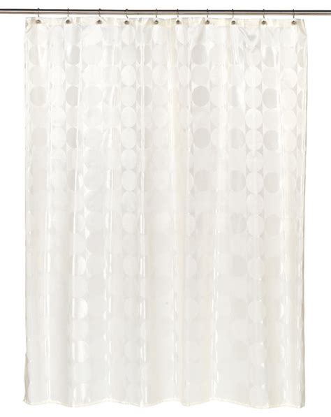 quot jacquard circles quot fabric shower curtain in ivory