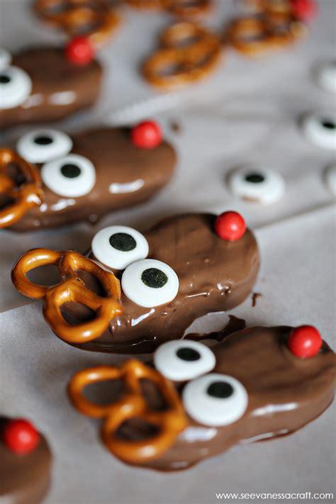 christmas nutter butter reindeer cookies  vanessa craft