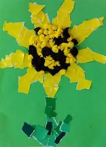 Bastelideen Sommer Kindergarten : sonnenblume mit schnipseltechnik kinderspiele ~ Frokenaadalensverden.com Haus und Dekorationen