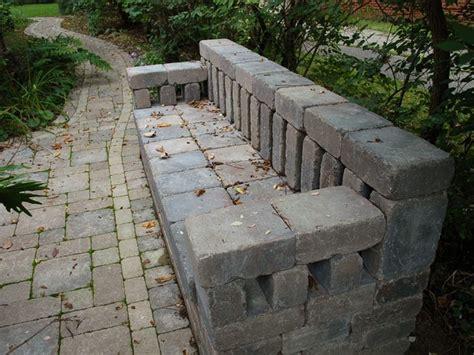 brick bench the salvaged garden