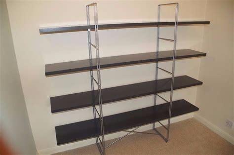 metal bookshelf ikea ikea enetri shelving unit bookshelf grey gloss and metal
