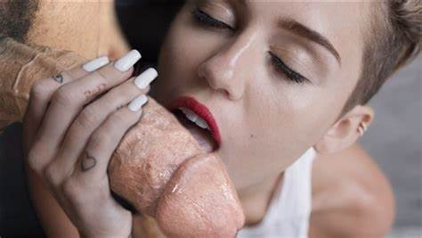 Nympho Eating At Music And Licking Boner Miley Cyrus Licks Dicks In 'Wrecking Ball' Outtake