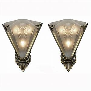 Pair, Of, Large, Wall, Sconces, Lighting, With, Antique, French, Shades, Ant