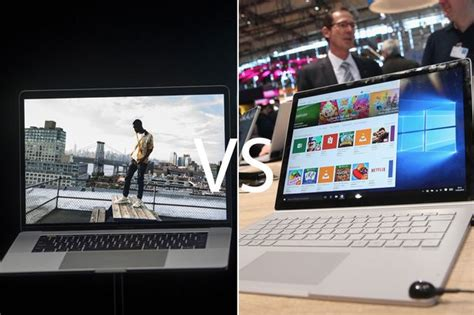 macbook pro vs surface book apple and microsoft go