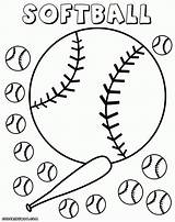 Softball Coloring Pages Field Diamond Glove Drawing Print Getdrawings Baseball Colorings Info sketch template