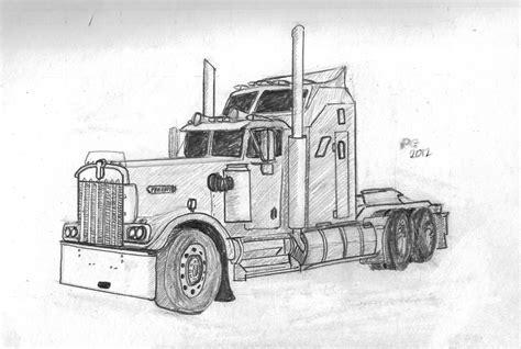 Kenworth Truck Drawings Gallery