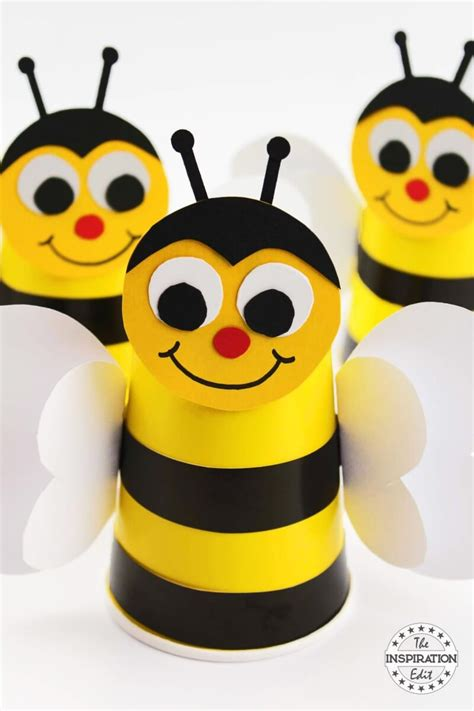 paper cup preschool bumble bee craft idea 183 the 854 | IMG 3313 copy