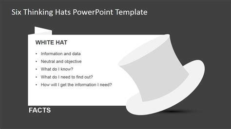 de bonos  thinking hats powerpoint template slidemodel