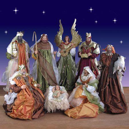 nativity sets church  beautiful  pinterest