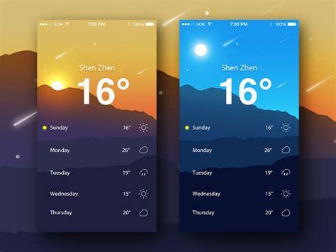 weather app  ruki  dribbble