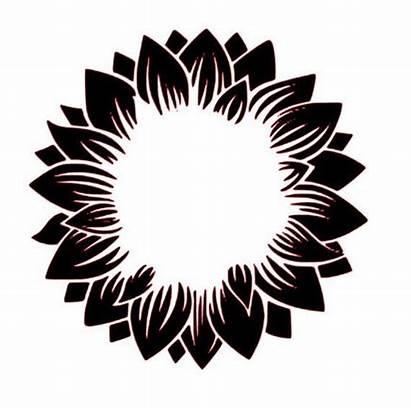 Sunflower Svg Monogram Cricut Vinyl Flower Decal