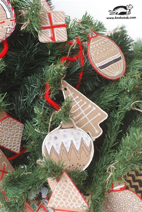krokotak christmas cardboard decorations