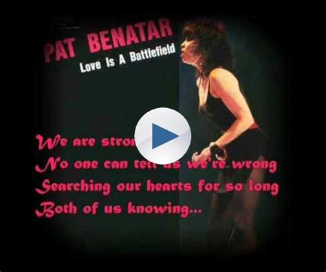 Pat Benatar - Love is a Battlefield (Lyrics) | Pat benatar ...