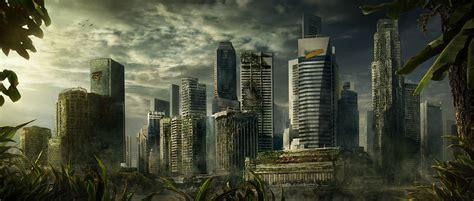 destroyed city  behance