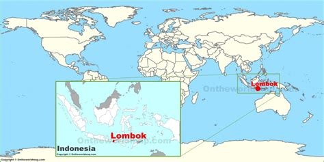 lombok   world map