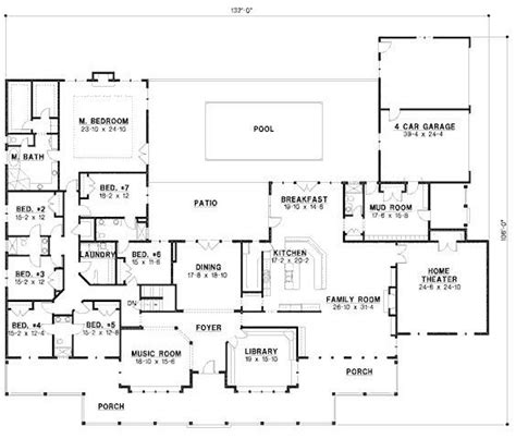 6 Bedroom House Floor Plans by 6 Bedroom Ranch House Plans New Best 25 6 Bedroom House